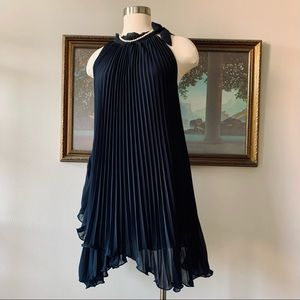 Tanti Becky pleated little black cocktail dress OS